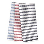 Sam Hedaya Morning Stripe Kitchen Towels (Set of 3)