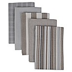 Performance 5-Pack Kitchen Towels in Grey