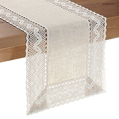 Pebble Lace Table Runner Bed Bath Amp Beyond