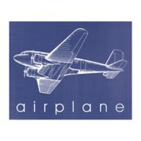 Pied Piper Creative A is For Airplane 20-Inch x 16-Inch Canvas Wall Art