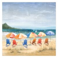 Beach Umbrella Heaven 20-Inch x 20-Inch Canvas Wall Art