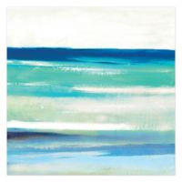 Cool Ocean Blues 16-Inch x 16-Inch Canvas Wall Art