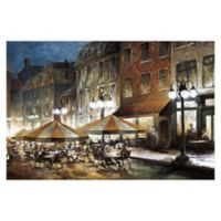 Pied Piper Creative Café Bistro 48-Inch x 32-Inch Canvas Wall Art