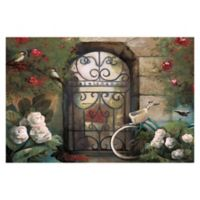 Pied Piper Creative Garden Gate 36-Inch x 24-Inch Canvas Wall Art