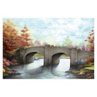 Pied Piper Creative Forest Bridge 48-Inch x 32-Inch Canvas Wall Art