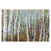 Pied Piper Creative Painted Birches 36-Inch x 24-Inch Canvas Wall Art