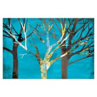 Pied Piper Creative Blue Tree Line 48-Inch x 32-Inch Canvas Wall Art