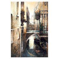 Pied Piper Creative Italian Canal 32-Inch x 48-Inch Canvas Wall Art
