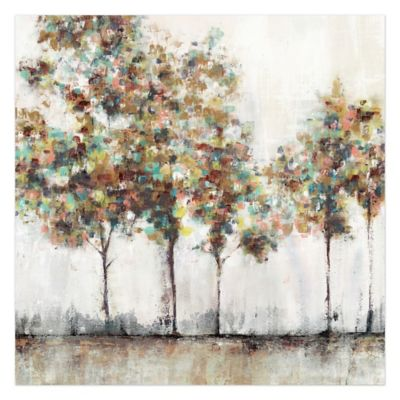 Captivating Pied Piper Creative Painted Brush Trees 24 Inch X 24 Inch Canvas Wall Art