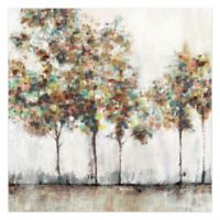 Pied Piper Creative Painted Brush Trees 36-Inch x 36-Inch Canvas Wall Art