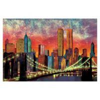 Pied Piper Creative New York Night Skyline 36-Inch x 24-Inch Canvas Wall Art