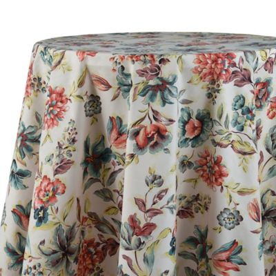 Agnes 70 Inch Laminated Round Tablecloth