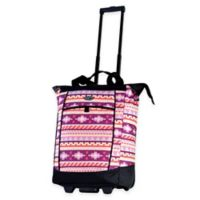 Olympia® USA Fashionista 20-Inch Rolling Shopper Tote in Pink Tribal