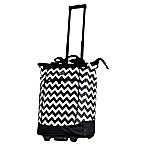 Olympia® USA Fashionista 20-Inch Rolling Shopper Tote Black Chevron