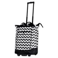 Olympia® USA Fashionista 20-Inch Rolling Shopper Tote Black Chevron