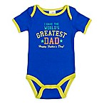 babygear™ Size 9M  I Have The World's Greatest Dad-Happy Father's Day  Bodysuit in Royal Blue