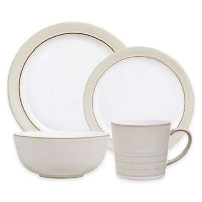Denby Natural Canvas 4-Piece Place Setting  sc 1 st  Bed Bath \u0026 Beyond & Buy Denby White Dinnerware from Bed Bath \u0026 Beyond