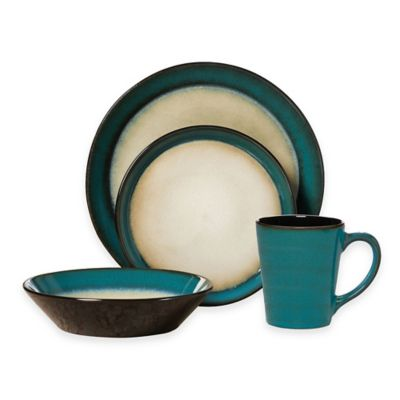 Pfaltzgraff® Aria 16-Piece Dinnerware Set in Teal  sc 1 st  Bed Bath u0026 Beyond & Buy Teal Dinnerware from Bed Bath u0026 Beyond