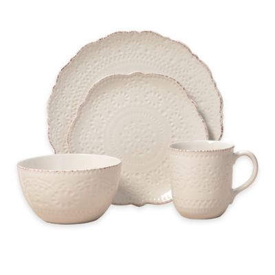 Pfaltzgraff® Chateau 16-Piece Dinnerware Set in Cream  sc 1 st  Bed Bath u0026 Beyond & Buy Country Dinnerware Sets from Bed Bath u0026 Beyond