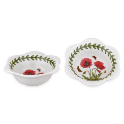 portmeirion botanic garden poppy dip bowls set of 2
