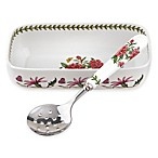 Portmeirion® Botanic Garden 2-Piece Cranberry Dish and Slotted Spoon Set