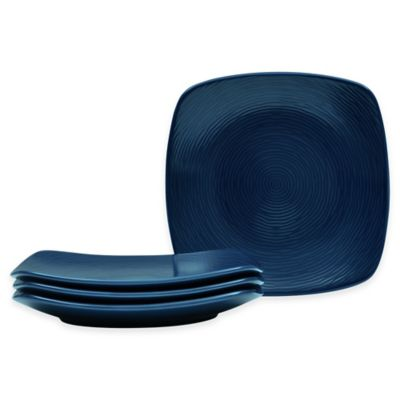 Noritake® Navy on Navy Swirl Square Appetizer Plates (Set of 4)  sc 1 st  Bed Bath u0026 Beyond : square plates set - Pezcame.Com