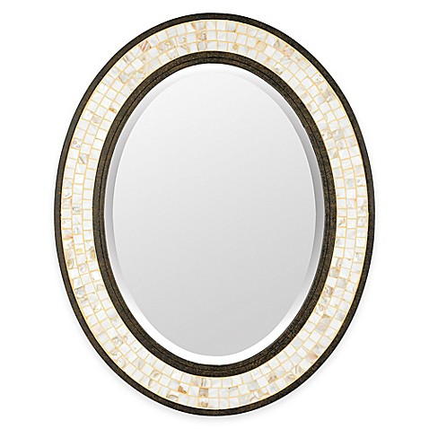 buy quoizel 24 inch x 30 inch oval monterey mosaic mirror. Black Bedroom Furniture Sets. Home Design Ideas