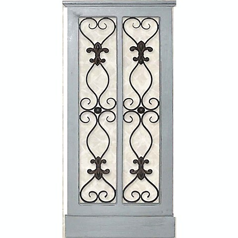 Iron And Wood Panel Wall Art In Grey Bed Bath Amp Beyond