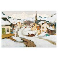Clarence Gagnon Village Laurentides Canvas Wall Art