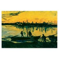 Vincent Van Gogh Unloading Coal Barges Wall Art