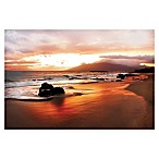 Settle Coastal Rocks Hawaii Sunset Photographic Canvas Wall Art