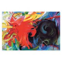 Marc Fighting Forms Canvas Wall Art