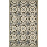 Safavieh Four Seasons Medallion Indoor/Outdoor Outdoor2-Foot 6-Inch x 4-Foot Runner in Grey/Blue
