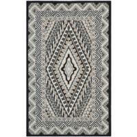 Safavieh Four Seasons Southwest Indoor/Outdoor 8-Foot x 10-Foot Area Rug in Ivory/Grey