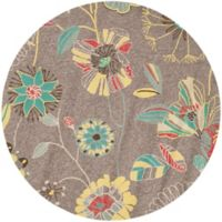 Safavieh Four Seasons 4-Foot Round Indoor/Outdoor Rug in Grey/Blue