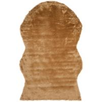 Safavieh Faux Sheep Skin Hide 4-Foot x 6-Foot Area Rug in Camel