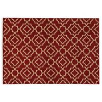 Oriental Weavers ELLA Diamond Trellis 3-Foot 3-Inch x 5-Foot 5-Inch Accent Rug in Red