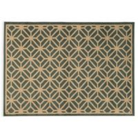Oriental Weavers ELLA Geometric Circles 3-Foot 3-Inch x 5-Foot 5-Inch Accent Rug in Blue