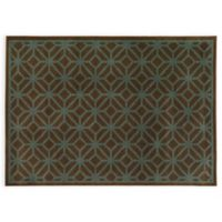 Oriental Weavers ELLA Geometric Circles 3-Foot 3-Inch x 5-Foot 5-Inch Accent Rug in Brown