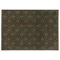 Oriental Weavers ELLA Geometric Circles 3-Foot 3-Inch x 5-Foot 5-Inch Accent Rug in Brown