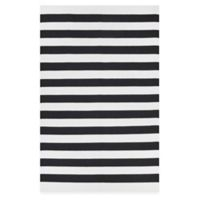 Fab Habitat Nantucket Stripe 5-Foot x 8-Foot Area Rug in Black/White