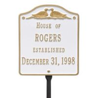 Whitehall Products Wedding Lawn Plaque with White/Gold Finish