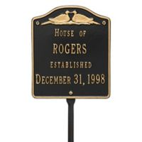 Whitehall Products Wedding Lawn Plaque with Black/Gold Finish