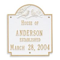 Whitehall Products Cardinal Wedding Plaque with White/Gold Finish