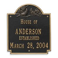 Whitehall Products Cardinal Wedding Plaque with Black/Gold Finish