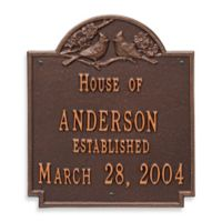 Whitehall Products Cardinal Wedding Plaque with Antique Copper Finish