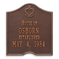 Whitehall Products Pennsylvania Dutch Anniversary Plaque with Antique Copper Finish