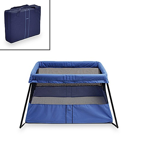 babybjorn travel crib light blue introducing the practical travel crib. Black Bedroom Furniture Sets. Home Design Ideas