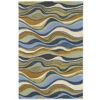 Kaleen Casual Alder 7-Foot 6-Inch x 9-Foot Area Rug in Blue