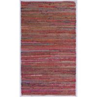 Aurora Chindi 3-Foot x 5-Foot Area Rug in Red